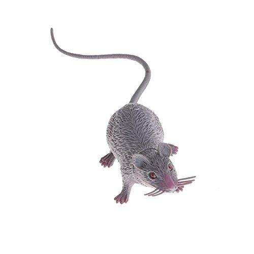Potato001 Plastic Rats Mouse Model Figures Kids Halloween Tricks Pranks Props Toy (Gray) ()