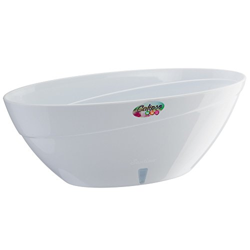Santino Self Watering Planter CALIPSO Oval Shape L 13.5 Inch (Oval Planter)