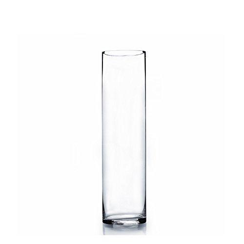 Clear Cylinder Glass Vase / Candle Holder - 4
