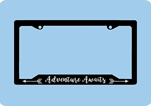 Adventure Awaits License Plate Frame Mountains License Plate Frame Car Accessories License Plate Art