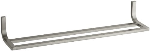 Kohler K-11582-BN Loure 24'' Double Towel Bar, Vibrant Brushed Nickel by Kohler
