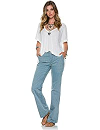 Free People Womens Denim Striped Bootcut Jeans