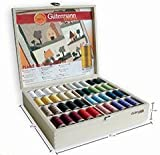 Gutermann Wooden Case Filled With Quilting Thread