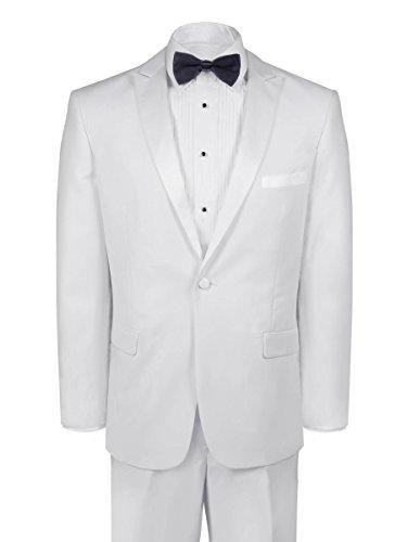 Slim Fit Tuxedo - White, 42 Long (White Long Tail Tuxedo)