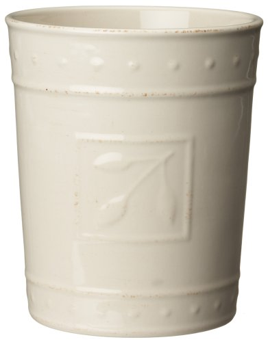 Signature Housewares Sorrento Collection Tool Jar, Ivory Antiqued Finish