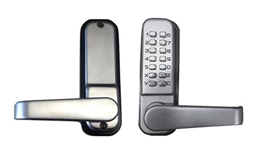 Mechanical Keyless Gate Lock (One Sided - Satin Chrome)