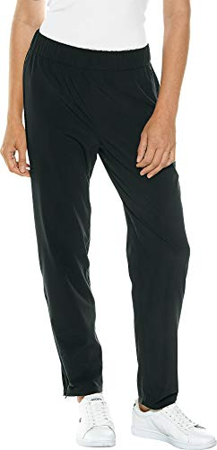 Coolibar UPF 50+ Women's Sprinter Sport Pants - Sun Protective (Small- Black) ()