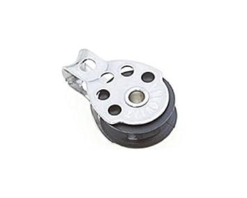 Block Miniblock Umlenkrolle Seilrolle Edelstahl mit Bügel 6mm