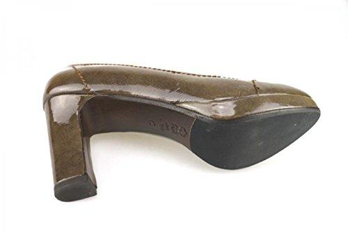 CALPIERRE 40 EU Zapatos de Salón Mujer Marrón Charol AJ404 DusPUXO
