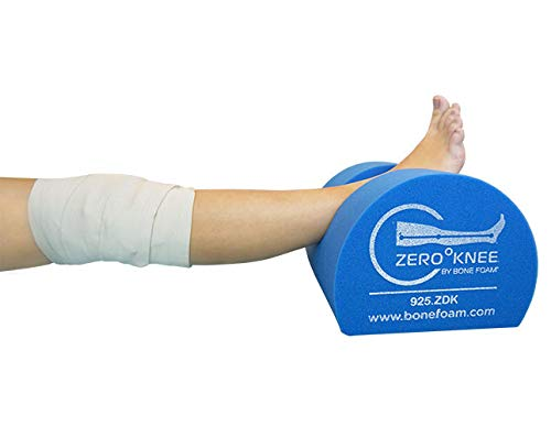 Zero Degree Knee Pillow - Post Surgery Knee Pillows - Knee Foam Wedge - Knee Rest -
