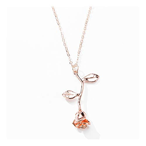 VANSOON Necklace Fashion Necklace Rose Pendant Necklace Personalized Fashion Jewelry Gifts