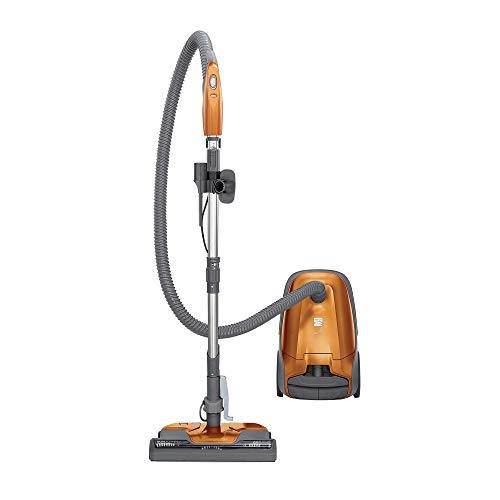 Kenmore 81214 200 Series Pet Friendly Lightweight Bagged Canister Vacuum with HEPA, 2 Motor System, and 3 Cleaning Tools, Orange (Renewed)