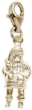 (Rembrandt Charms Santa Charm with Lobster Clasp, 10K Yellow Gold)