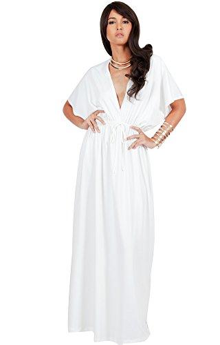V-Neck Kimono Dress - 8