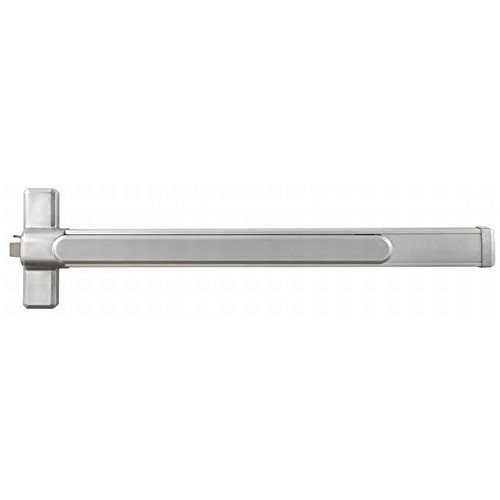 Stanley Commercial Hardware Commercial Heavy Duty Rim Exit Device with Fire Rated for 3' Wide Door from the QED100 Collection, Brushed Chrome Finish, Electrified Latch Retraction with Request to Exit ()
