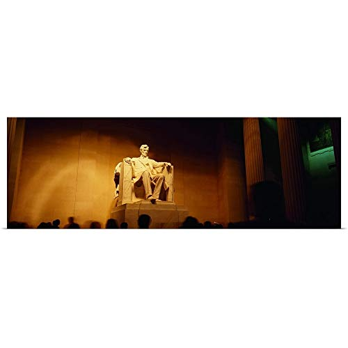 GREATBIGCANVAS Poster Print Entitled Low Angle View of a Statue, Lincoln Memorial, Washington DC by 48