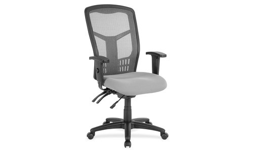 Executive High Back Seating - Lorell LLR86907 Ergomesh Seating Executive Mesh High-Back Chair, 4
