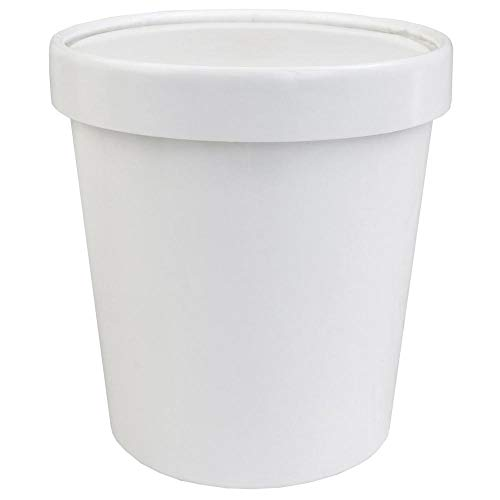 [25Count] 16 oz Freezer Containers And Lids - With Non-vented Lids to Prevent Freezer Burn - Premium Heavy Duty Ice Cream Containers! Frozen Dessert Supplies