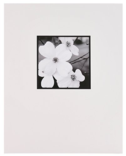 Nielsen Bainbridge GB05C Artcare By White With Black Bevel 11x14 Pre-Cut Museum Quality Archival Picture Mat For 5x5 ()