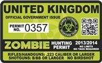 Yellow Dog United Kingdom UK Zombie Hunting Permit - Hunter Response Biohazard Team Unit - 4
