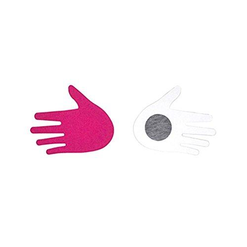 Tinksky Desechables Pasties Nipple Cover Lingerie en el sujetador en forma de palma Boob pegatina cubierta de mama para las mujeres 10 pares (Rose rojo)