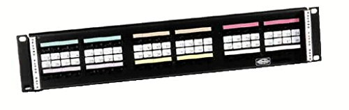 Hubbell - 110RM24 - Hubbell Premise 110RM24 Category 5e 110 Rack Mount Kit; 3-Rack Unit, Powder-Coated, 14 Gauge Steel Panel, Black