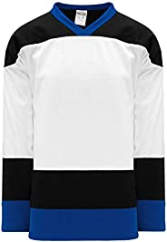 Tampa Bay White Sleeve Stripes Pro Plain Blank Hockey Jerseys
