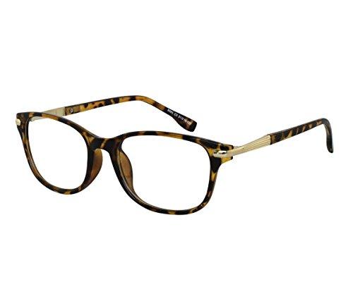 EyeBuyExpress Reading Glasses Womens Mens Retro Style Tortoise Acetate Light Weight