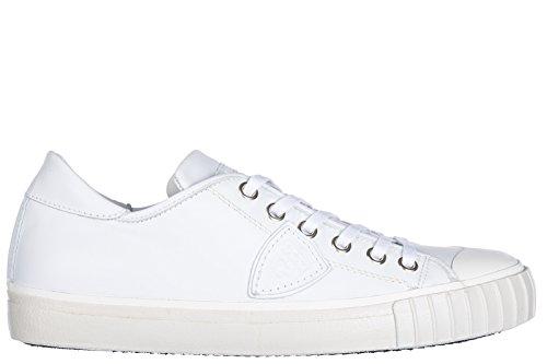 Scarpe Da Uomo Modello Philippe Mens Scarpe Sneakers In Pelle Da Corsa Bianche