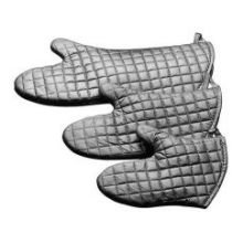 Johnson Rose Silver Color Non-Stick Silicone Oven Mitt, 17 inch Length -- 1 pair. by Johnson Rose