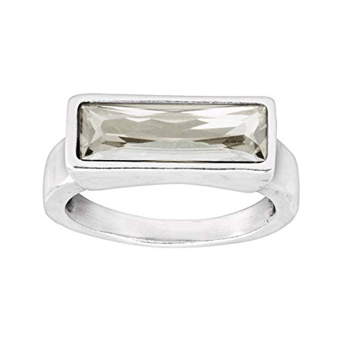 Crystal Silver Rings - Silpada 'Soirée Not Sorry' White Swarovski Crystal Ring in Sterling Silver