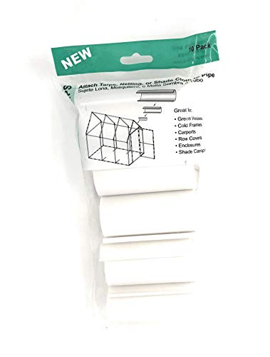 HD White Snap Clamp 1-1/4 Inch X 4 Inches Wide for 1-1/4 Inch PVC Pipe 10 Per - Pvc Snap
