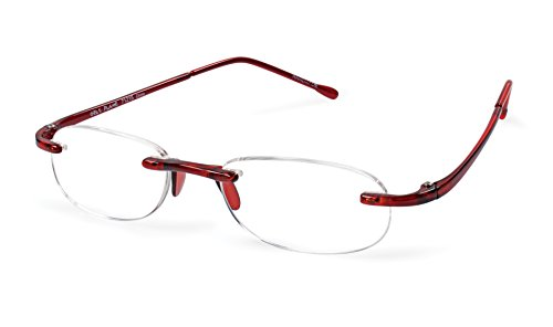 Dramatic Reader - Gels - Lightweight Rimless Fashion Readers - The Original Reading Glasses for Men and Women - Flame (+1.50)