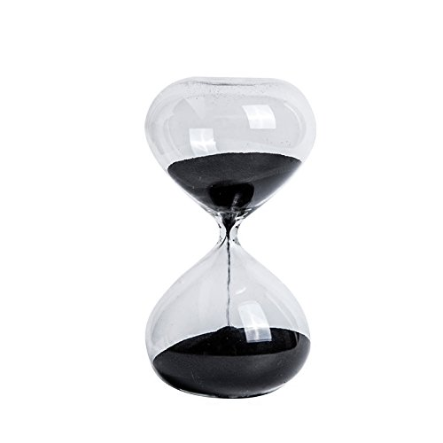 Large Hourglass (Graces Dawn Super beautiful transparent glass Hourglass Sand Timer 60 minutes with (black))