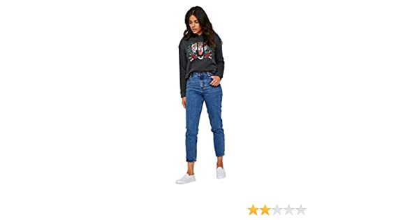 99a263cf87a8 Ardene - Women's - High Waist Jeans - Classic Mom Jeans 5 -(8B-AP02458) at  Amazon Women's Jeans store