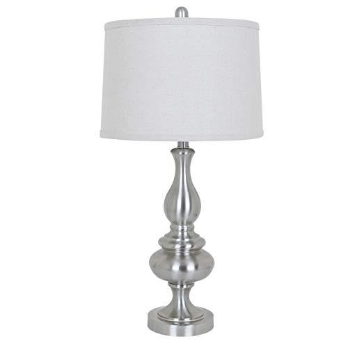 Crestview Brush Nickel Finish Table Lamp 28.75