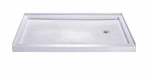Buy Bargain DreamLine SlimLine 30 in. D x 60 in. W x 2 3/4 in. H Right Drain Single Threshold Shower...