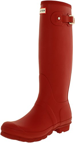 Hunter Women's Original Tall Wellington Boots, Military Red - 8 B(M) US (Womens Military Boots)