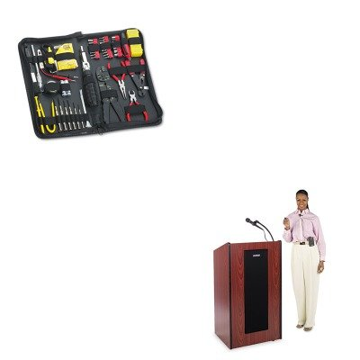 KITAPLSW450MHFEL49106 - Value Kit - Amplivox Presidential Plus Wireless Lectern (APLSW450MH) and Fellowes 55-Piece Computer Tool Kit in Black Vinyl Zipper Case (FEL49106)