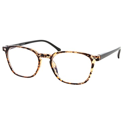 Anti Glare Lens Progressive Multifocus Reading Glasses (Marble Brown, 2.50) ()
