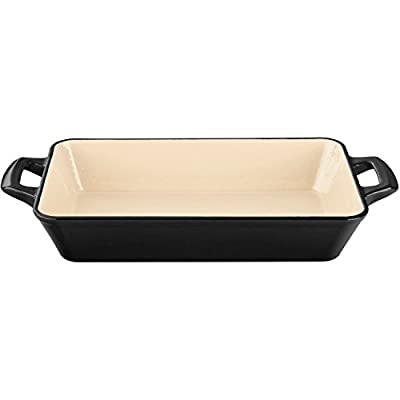 La Cuisine 1.8 Qt Enameled Cast Iron Deep Roasting Pan