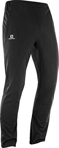 Salomon Men's Agile Warm Pant , Black, Small -