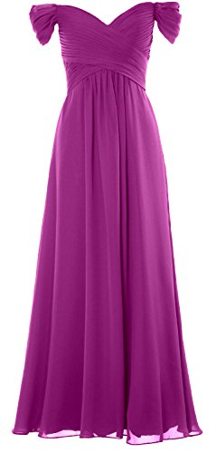 Chiffon Prom Formal Women Wedding Long Gown Party Begonia Dress Off the MACloth Shoulder wX40v4q
