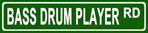 - Makoroni - Bass Drum Player Music Novelty Street Sign Aluminum Metal 4x18 inc
