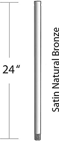 Basics Down Rod 12 Inch, Kichler 450SNW