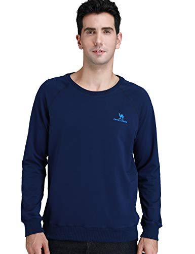 Camel Crown Men Sweatshirts Breathable Sport Long Slevees T-Shirts Elastic for Running Navy L Size