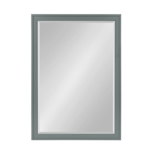 DesignOvation Bosc Large Framed Decorative Rectangle Wall Mirror, 27.5 x 39.5 Gray Review