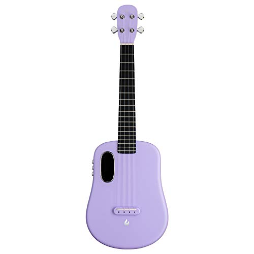 LAVA U, Carbon Fiber Ukulele, 26-inch,Play with effects without plugging in, Acoustic Electric Ukulele by LAVA MUSIC (FreeBoost, Sparkle Purple, 26-inch)