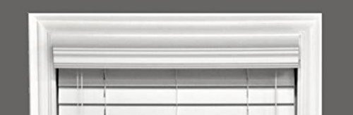 Delta Blinds Supply Faux Wood Crown Valance ONLY, Snow White