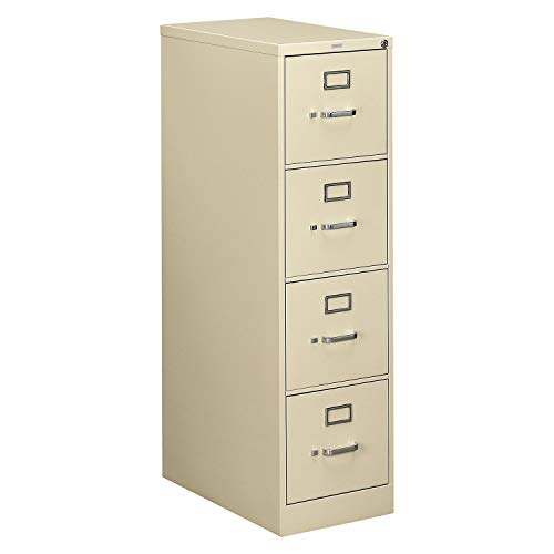 Hon 510 Series Ltr-size 4-drawer Vert. File w/Lock-4-Drawer Letter File, Vertical, 15